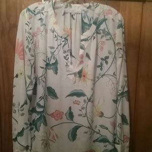 Pale pink floral blouse